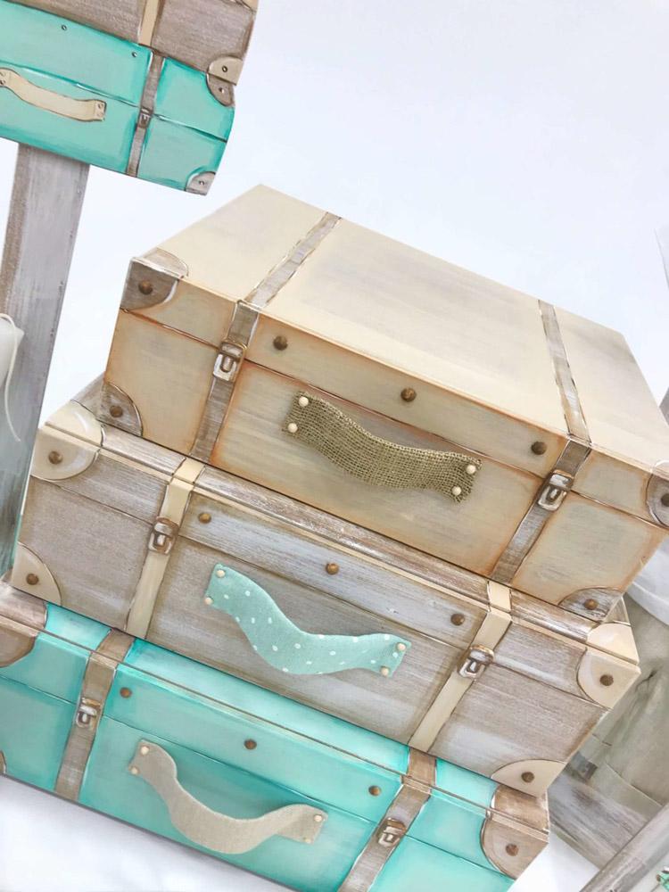 K170 - Σετ βάπτισης Travel suitcases boy