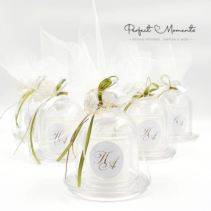 21376 - Μπομπονιέρα γάμου αρωματικό κερί με άρωμα cotton