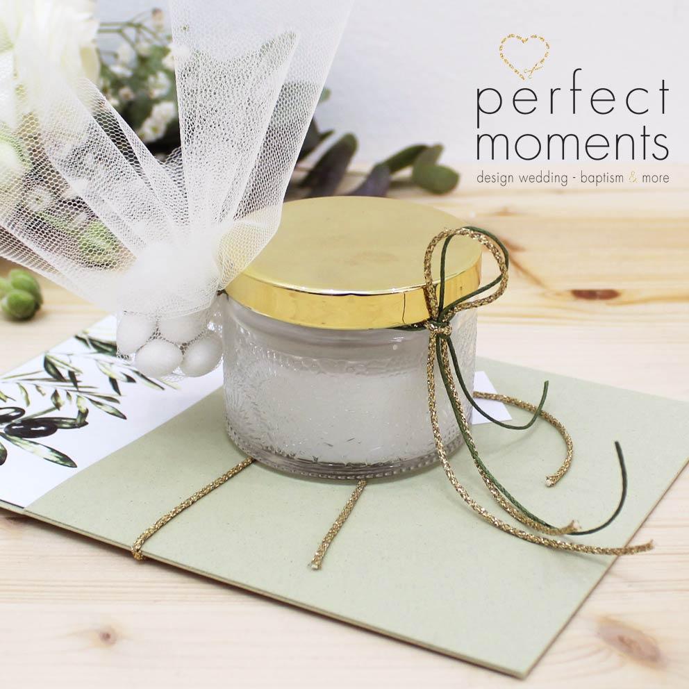 20328 - Μπομπονιέρα γάμου αρωματικό κερί με άρωμα γιασεμί